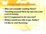 language structures