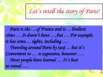 let s retell the story of paris