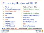 20 founding members in chrec