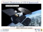 artist s depiction of st 8 spacecraft