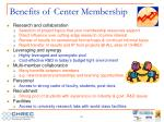benefits of center membership