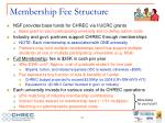 membership fee structure