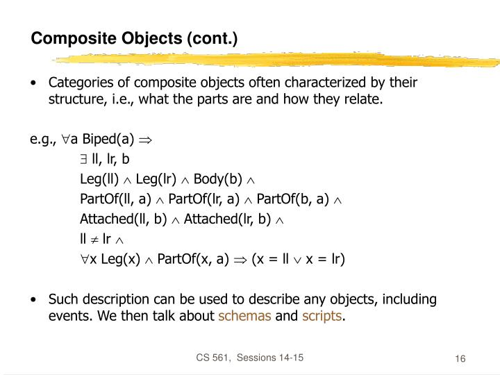 Composite Objects (cont.)