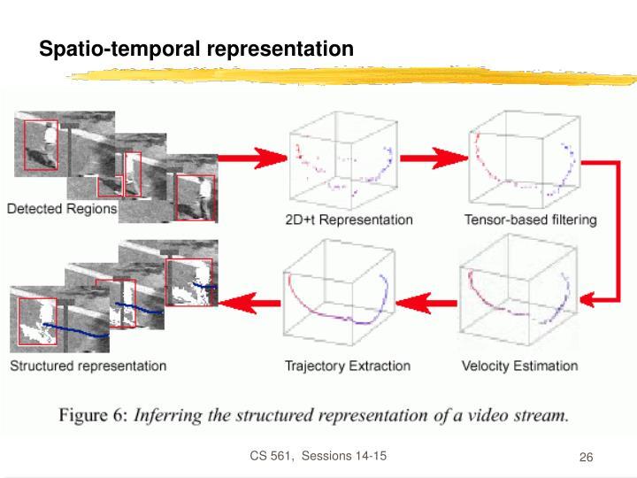 Spatio-temporal representation