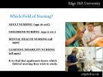 which field of nursing