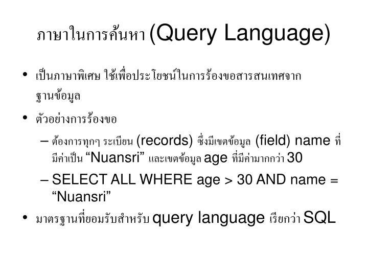 ภาษาในการค้นหา