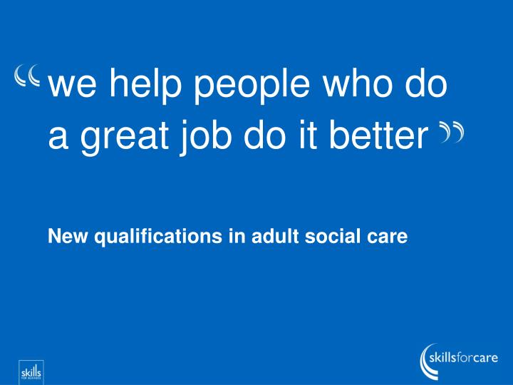induction for new social care workers in adult social care essay Assignment 302 principles of personal development in adult social care settings 1374 words | 6 pages assignment 302 principles of personal development in adult social care settings task a guidance you are going to be a mentor for a new social care worker as part of their induction process.
