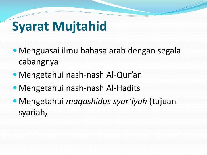 Syarat Mujtahid
