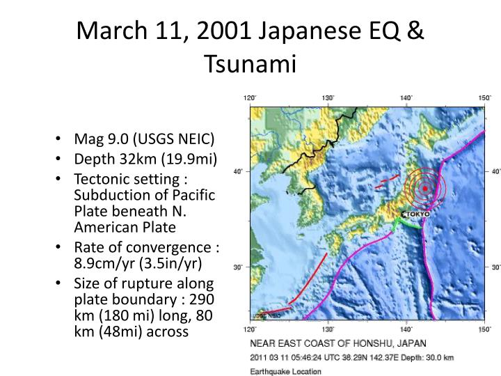 March 11, 2001 Japanese EQ & Tsunami