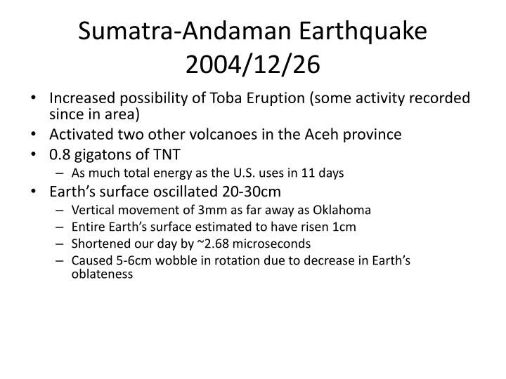 Sumatra-Andaman Earthquake