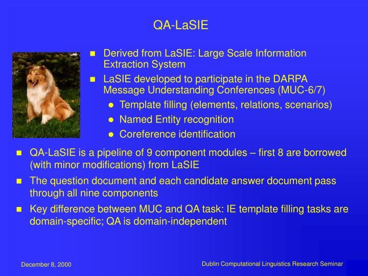 QA-LaSIE