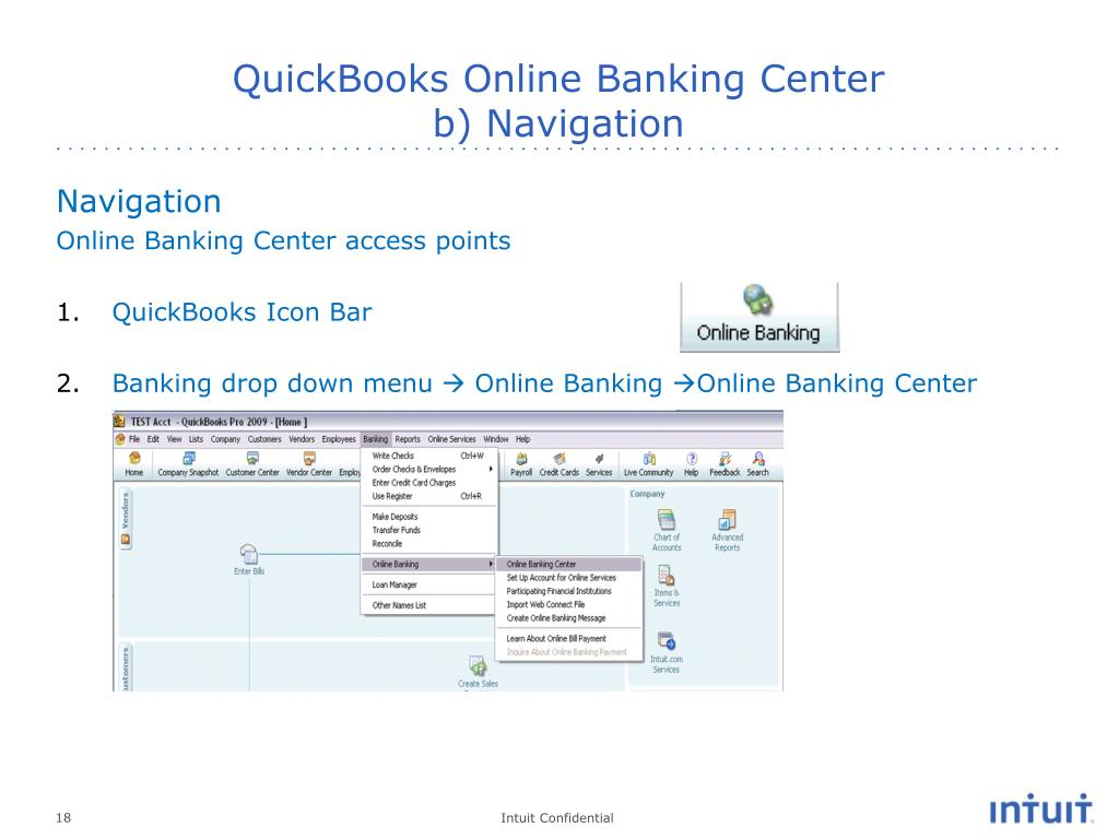 PPT - QuickBooks Online Banking Internal Support Training