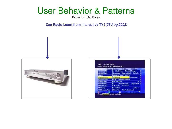 User Behavior & Patterns