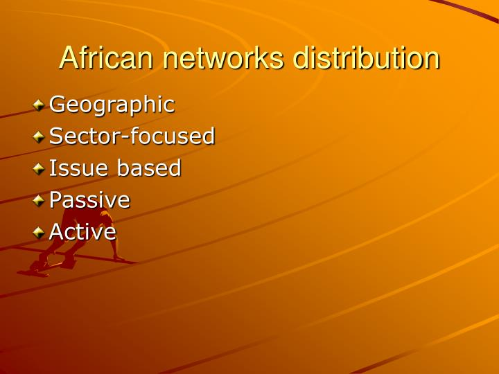 African networks distribution