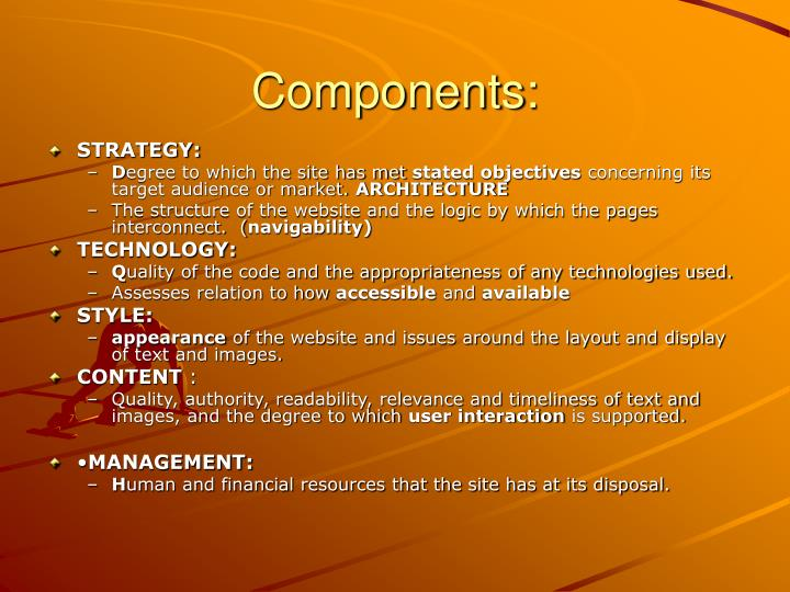 Components: