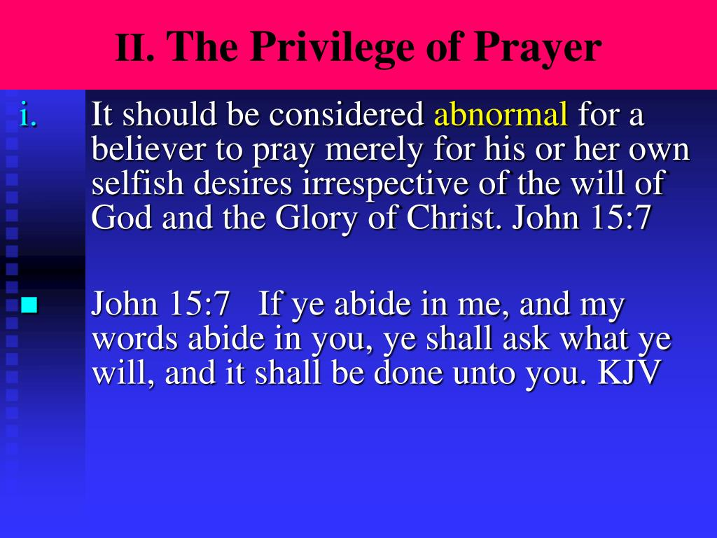 PPT - If God is omniscient and Sovereign why bother to pray
