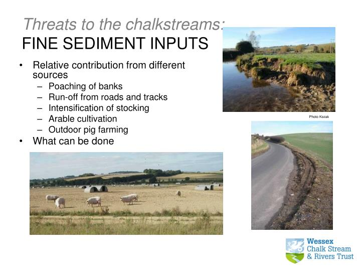 Threats to the chalkstreams: