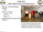 2006 vqp high virginia club combined score