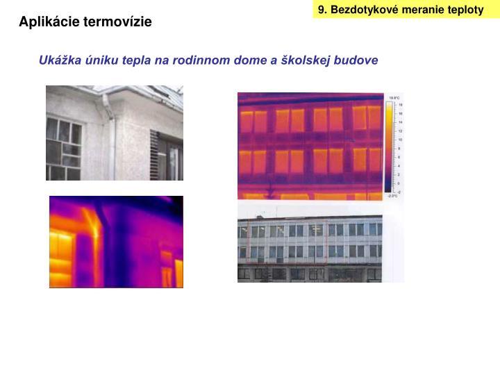 9. Bezdotykové meranie teploty