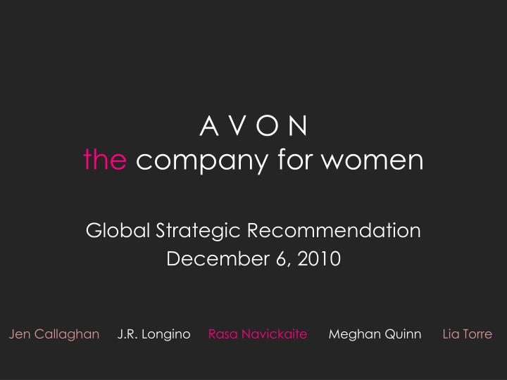 A v o n the company for women