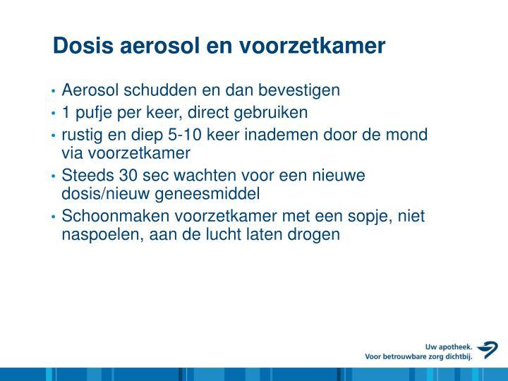 Dosis aerosol en voorzetkamer