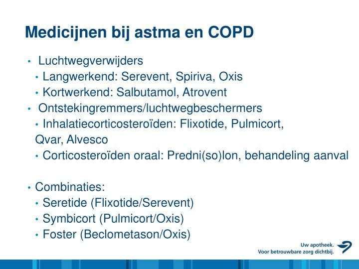 Medicijnen bij astma en COPD
