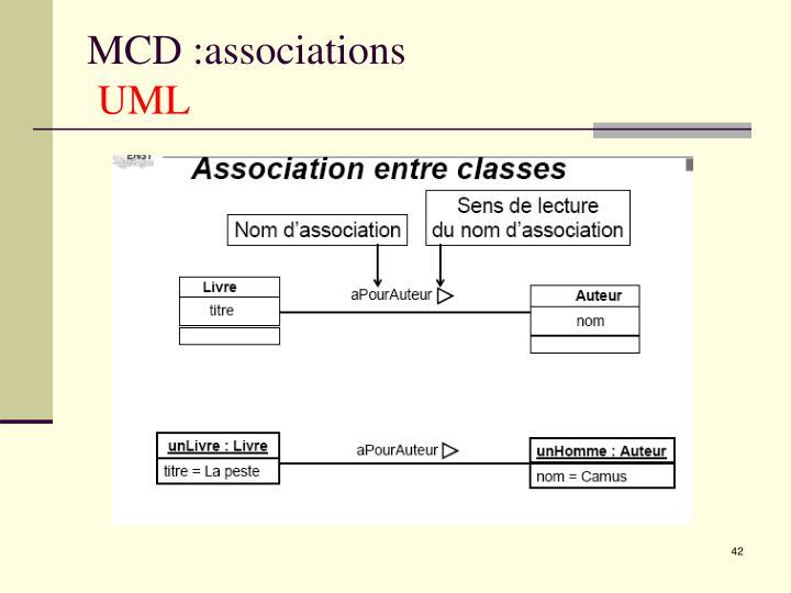 MCD :associations