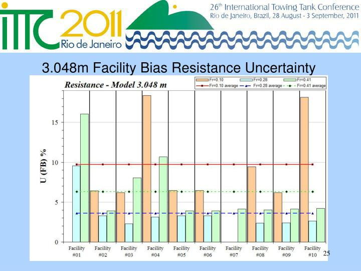 3.048m Facility Bias Resistance Uncertainty