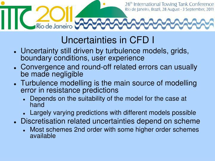 Uncertainties in CFD I