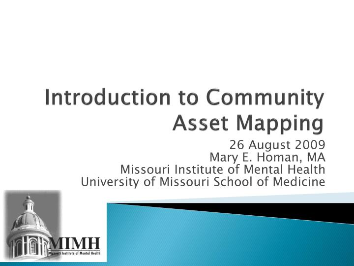 introduction to community asset mapping n.