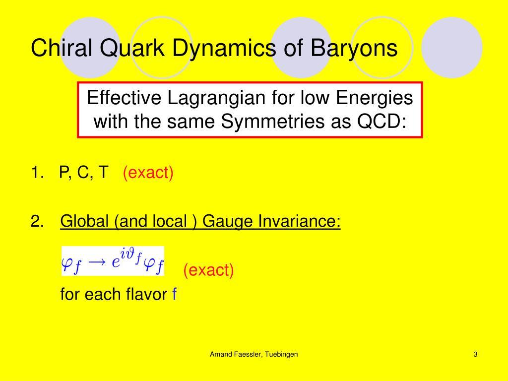 Chiral quark dynamics