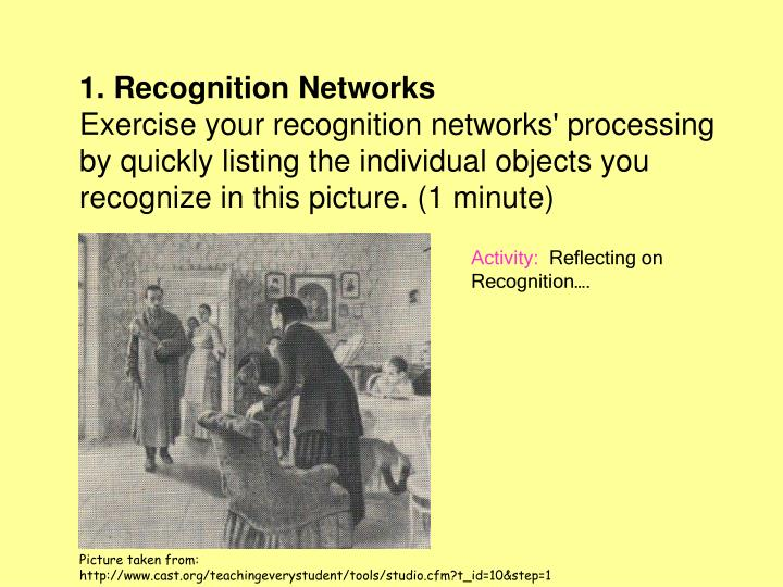 1. Recognition Networks