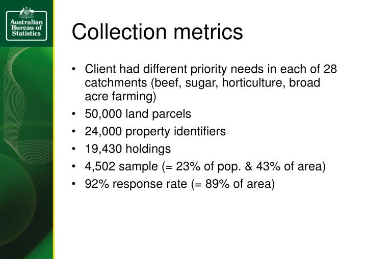 Collection metrics