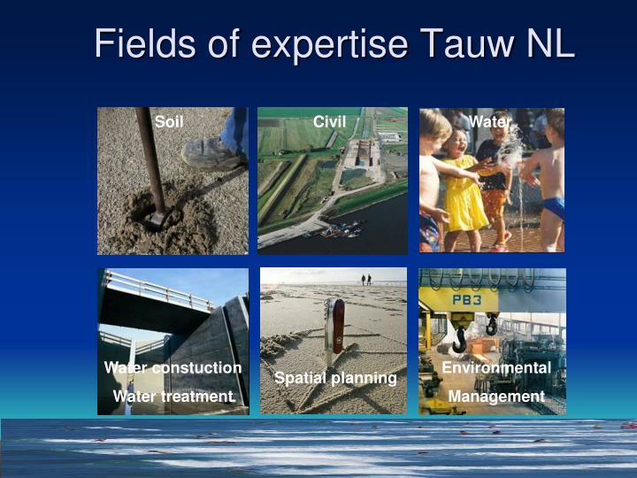 Fields of expertise Tauw NL