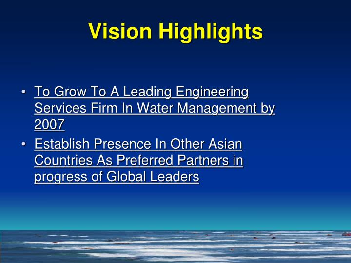 Vision Highlights