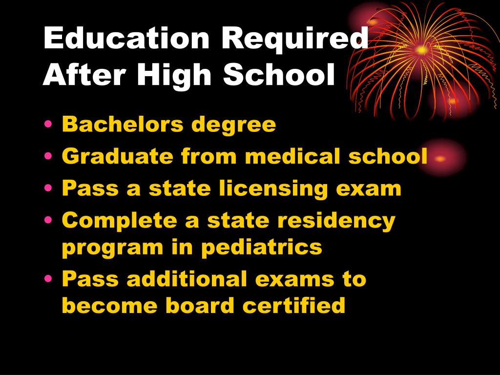 Pediatrician Education Requirements >> Ppt Becoming A Pediatrician Powerpoint Presentation Id