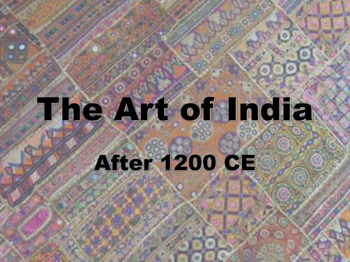 the art of india n.