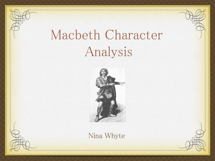 literary analysis essay of macbeth
