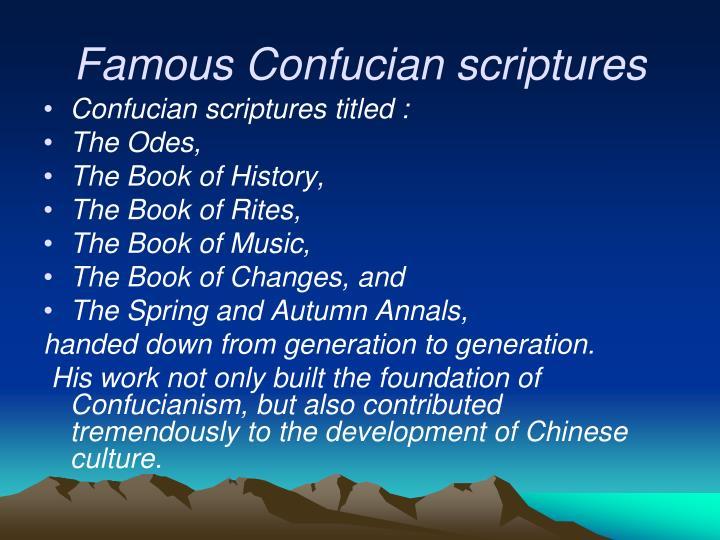 Famous Confucian scriptures