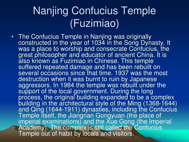 Nanjing Confucius Temple (Fuzimiao)