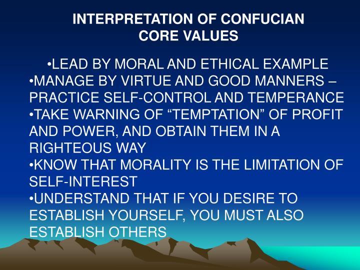 INTERPRETATION OF CONFUCIAN