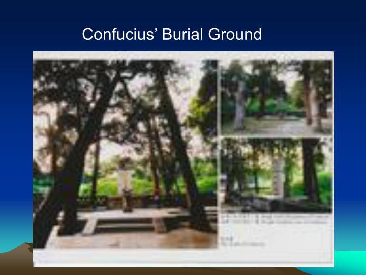Confucius' Burial
