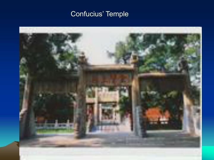 Confucius' Temple