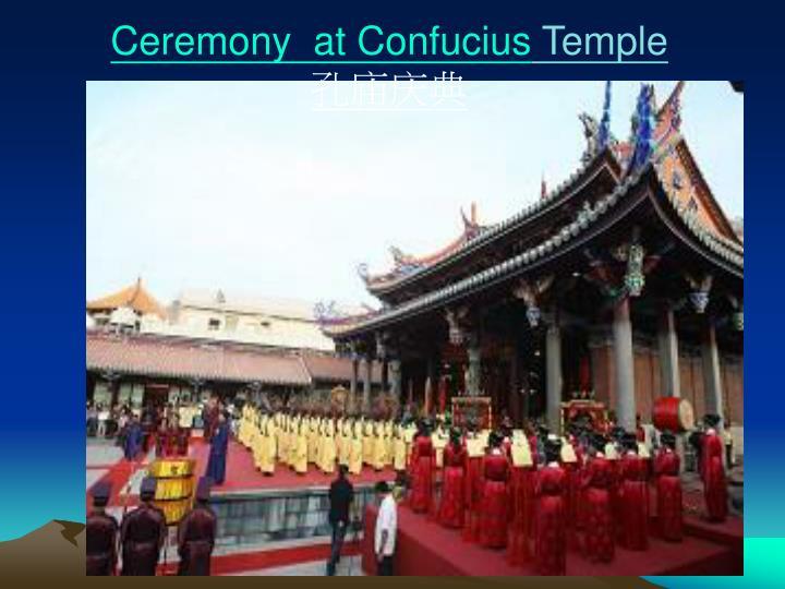 Ceremony  at