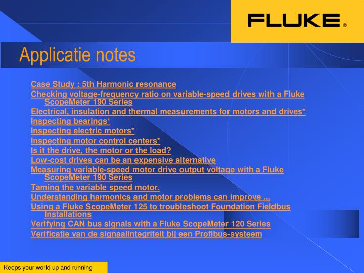 Applicatie notes