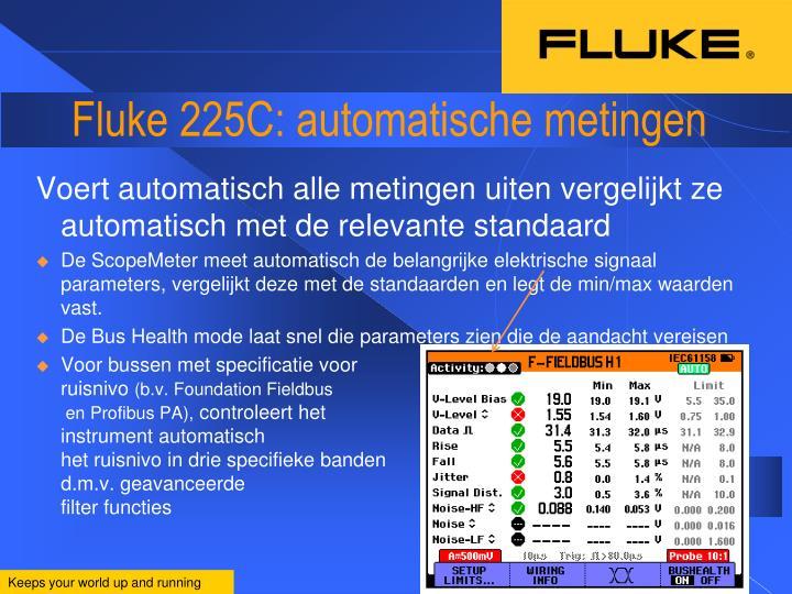 Fluke 225C: automatische metingen
