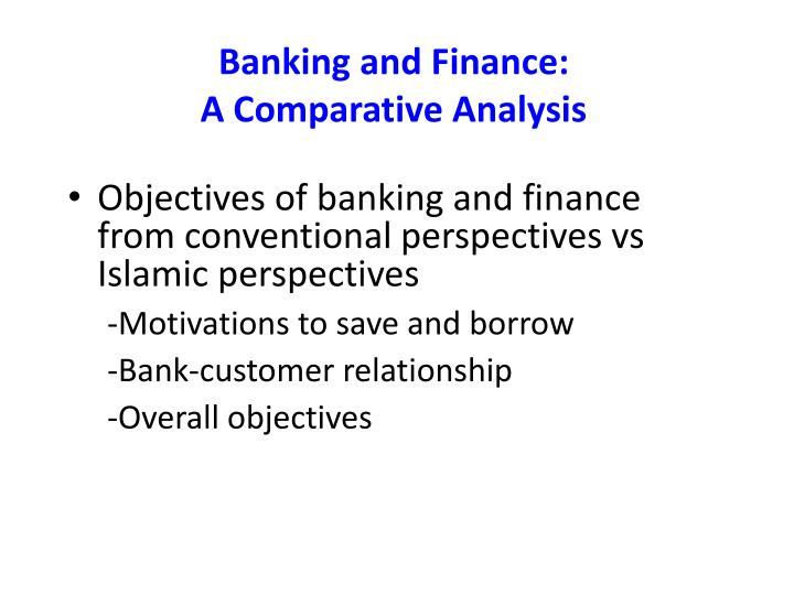 Banking and Finance: