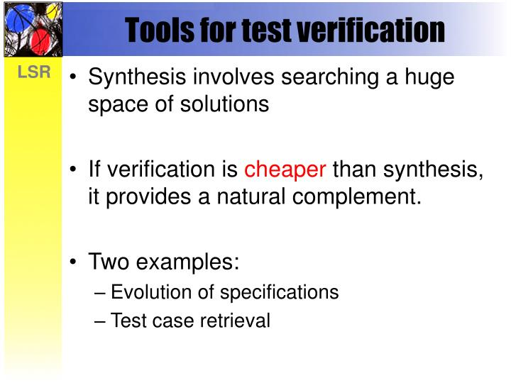 Tools for test verification