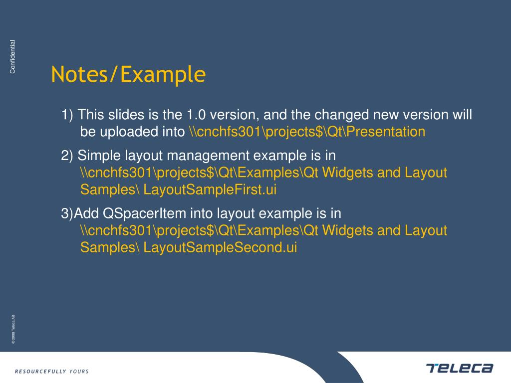 PPT - QT UI Widgets and Layout_2S PowerPoint Presentation
