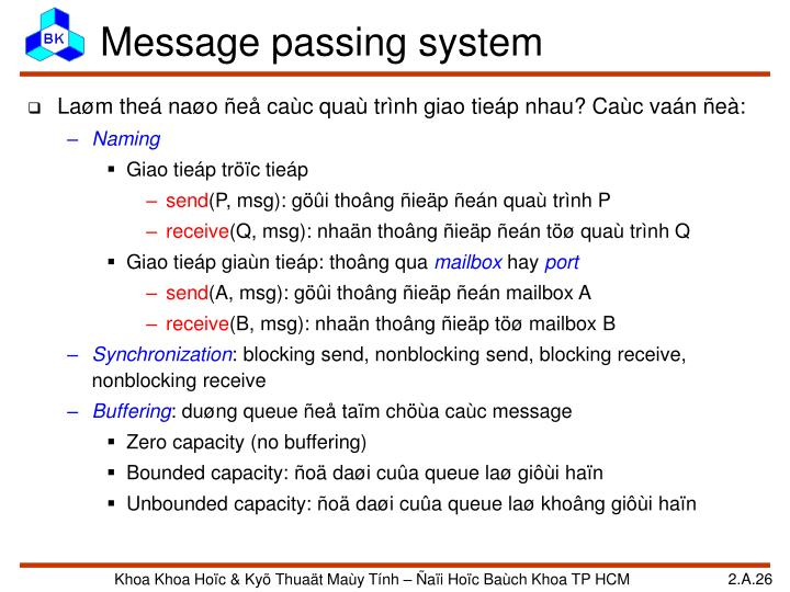 Message passing system